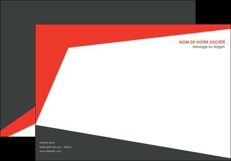creer modele en ligne affiche rouge noir moderne MIF41863