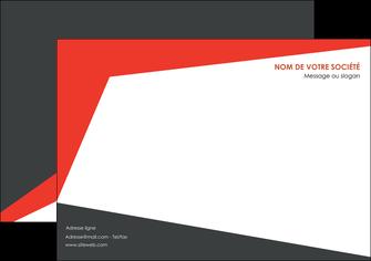 faire affiche rouge noir moderne MLGI41865