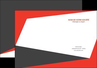 creer modele en ligne pochette a rabat rouge noir moderne MLGI41871