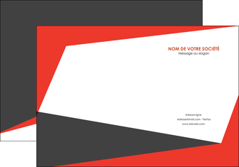 creer modele en ligne pochette a rabat rouge noir moderne MLIG41871