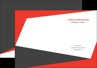 modele pochette a rabat rouge noir moderne MLIG41873