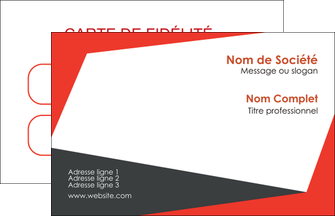 exemple carte de visite rouge noir moderne MIF41875
