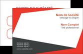 exemple carte de visite rouge noir moderne MLIP41875