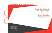 exemple carte de visite rouge noir moderne MLGI41875