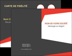 Commander Carte de visite double  Carte commerciale de fidélité carte-de-visite-double Carte de visite Double - Portrait