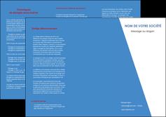 realiser depliant 3 volets  6 pages  texture contexture structure MIF42111
