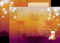 maquette en ligne a personnaliser depliant 2 volets  4 pages  lune pleine lune tableau pleine lune MIF42399