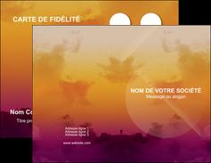Impression carte de voeux impression  Carte commerciale de fidélité devis d'imprimeur publicitaire professionnel Carte de visite Double - Portrait