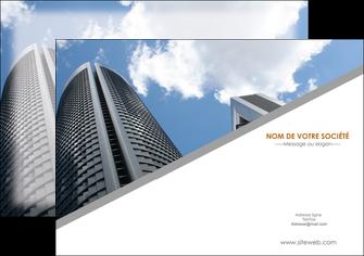 personnaliser modele de flyers agence immobiliere immeuble gratte ciel immobilier MLGI42533