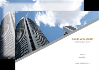 imprimer flyers agence immobiliere immeuble gratte ciel immobilier MLGI42559