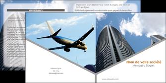 creer modele en ligne depliant 2 volets  4 pages  agence immobiliere immeuble gratte ciel immobilier MLGI42561