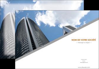 personnaliser modele de affiche agence immobiliere immeuble gratte ciel immobilier MLGI42563