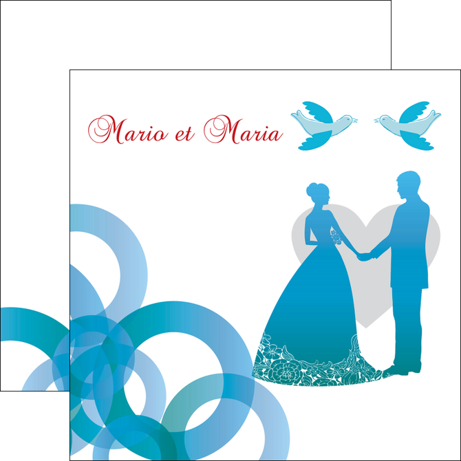 modele flyers mariage noces union MIF42829