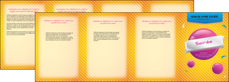 creation graphique en ligne depliant 4 volets  8 pages  soiree evenement rayure MID43317