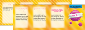 exemple depliant 4 volets  8 pages  soiree evenement rayure MID43327