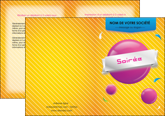 cree depliant 2 volets  4 pages  soiree evenement rayure MID43339