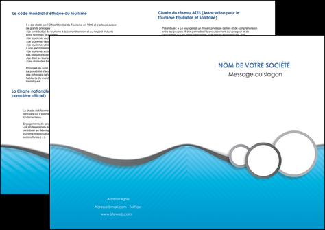 impression depliant 2 volets  4 pages  texture structure courbes MLGI43375