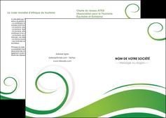 modele depliant 2 volets  4 pages  fleuriste et jardinage texture structure design MIF43659