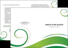 cree depliant 2 volets  4 pages  fleuriste et jardinage texture structure design MIF43665