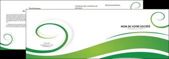maquette en ligne a personnaliser depliant 2 volets  4 pages  fleuriste et jardinage texture structure design MIF43675