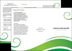 faire modele a imprimer depliant 3 volets  6 pages  fleuriste et jardinage texture structure design MIF43687