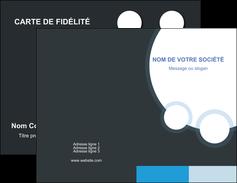 Commander Carte de fidélité  Carte commerciale de fidélité modèle graphique pour devis d'imprimeur Carte de visite Double - Portrait