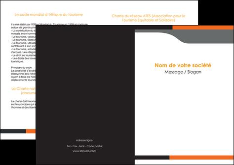 imprimerie depliant 2 volets  4 pages  texture structure courbes MLGI43977