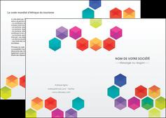personnaliser maquette depliant 2 volets  4 pages  texture structure design MIF44121