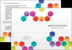 imprimerie depliant 2 volets  4 pages  texture structure design MIF44127