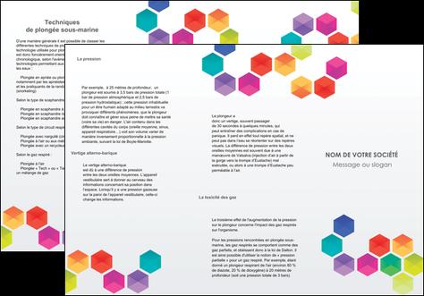 realiser depliant 3 volets  6 pages  texture structure design MLGI44147