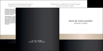 modele en ligne depliant 2 volets  4 pages  texture contexture structure MLGI44215