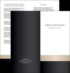 imprimerie depliant 2 volets  4 pages  texture contexture structure MLGI44227