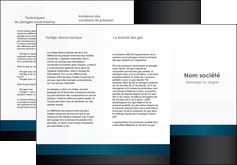 creation graphique en ligne depliant 3 volets  6 pages  texture structure design MLIG44315