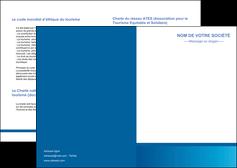 faire modele a imprimer depliant 2 volets  4 pages  texture structure design MIF44535