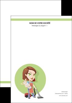 realiser affiche agence de placement  femme de menage employe de maison nenene MLGI44547