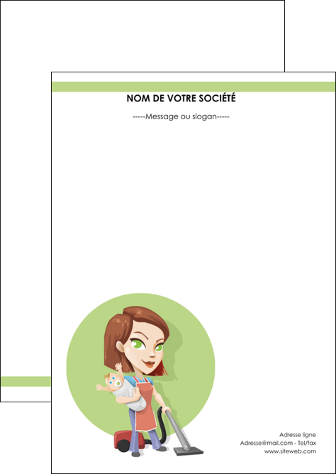 realiser flyers agence de placement  femme de menage employe de maison nenene MLIG44555