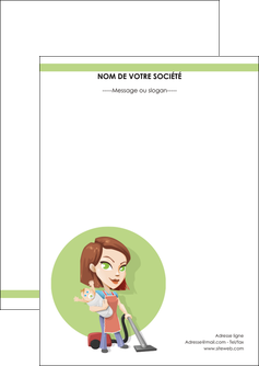 realiser flyers agence de placement  femme de menage employe de maison nenene MLGI44555