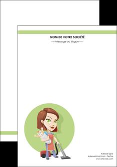 realiser affiche agence de placement  femme de menage employe de maison nenene MLGI44557