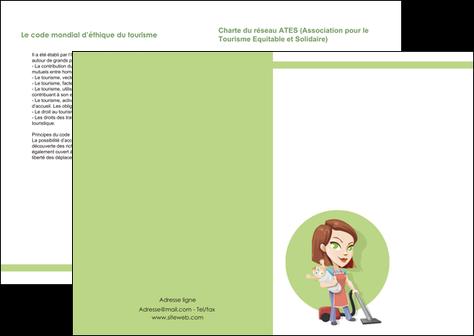 modele depliant 2 volets  4 pages  agence de placement  femme de menage employe de maison nenene MLGI44559