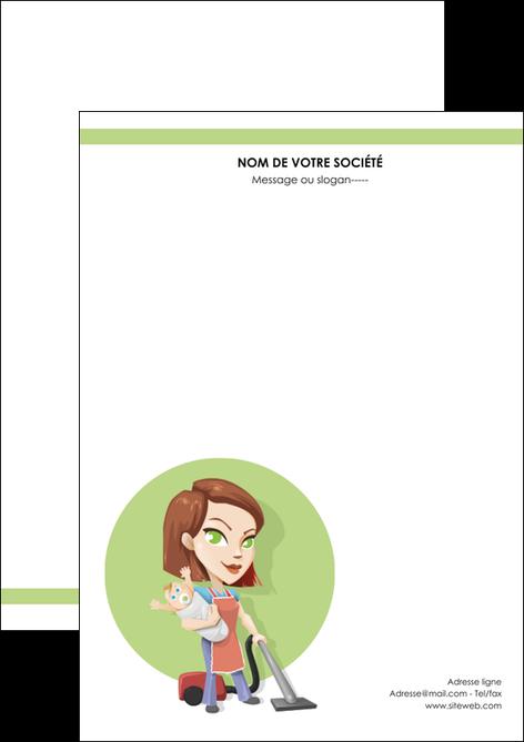 imprimerie flyers agence de placement  femme de menage employe de maison nenene MIF44561
