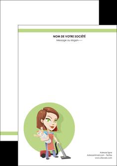 imprimerie flyers agence de placement  femme de menage employe de maison nenene MLGI44561