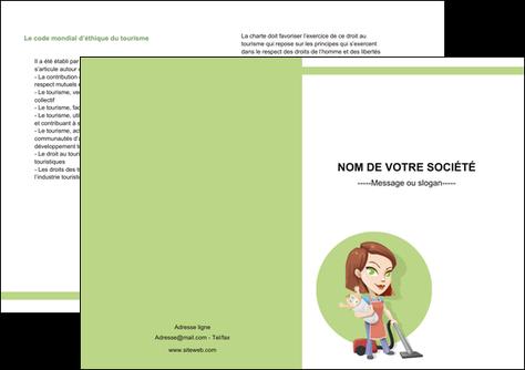 imprimer depliant 2 volets  4 pages  agence de placement  femme de menage employe de maison nenene MLGI44565