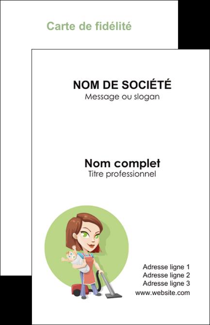 personnaliser maquette carte de visite agence de placement  femme de menage employe de maison nenene MIF44569