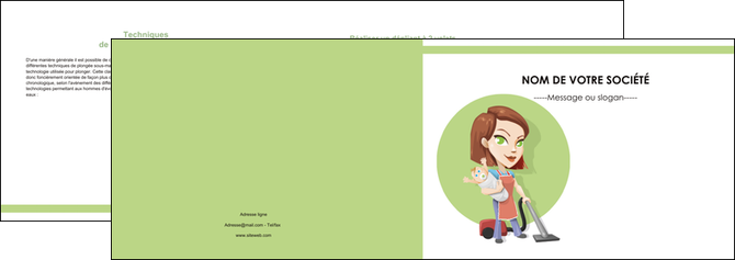 creation graphique en ligne depliant 2 volets  4 pages  agence de placement  femme de menage employe de maison nenene MLGI44575
