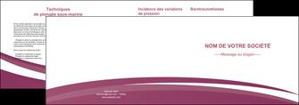 creation graphique en ligne depliant 2 volets  4 pages  texture structure design MLIG44631