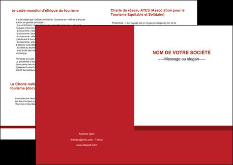 personnaliser maquette depliant 2 volets  4 pages  texture contexture structure MIF44659