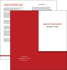 cree depliant 2 volets  4 pages  texture contexture structure MLGI44661