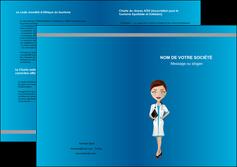 creation graphique en ligne depliant 2 volets  4 pages  infirmier infirmiere medecin docteur infirmier MIS44799