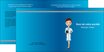 imprimer depliant 2 volets  4 pages  infirmier infirmiere medecin docteur infirmier MLGI44809