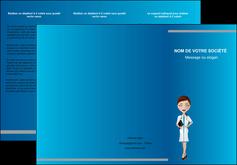 maquette en ligne a personnaliser depliant 3 volets  6 pages  infirmier infirmiere medecin docteur infirmier MIS44813